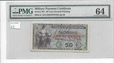 MPC Series 481 50 Cents 2nd  Printing PMG 64  CHOICE UNC