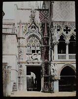 ANTIQUE Magic Lantern Slide ENTRANCE TO THE DOGES PALACE C1900 PHOTO VENICE
