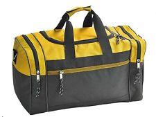 "17"" Men/Women Travel  Duffle Duffel Gym Sports Bag, Multi-Usage Gold/Black"