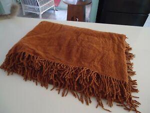 vintage retro single tan brown chenille bedspread sepertex Australia