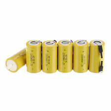 6PCS SubC SC 1.2V 2200mAh Ni-Cd NiCd Rechargeable Battery Batteries Yellow Power