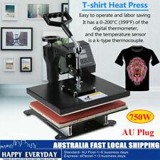 12in Heat Press Transfer T-shirt Sublimation Printer Printing Machine Timer 750w