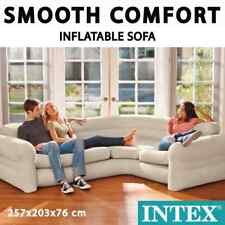 Intex Inflatable Corner Sofa/couch 257x203x76cm Relaxing Seat Air Furniture