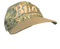 Vintage Bud King Of Beers Snap Back 80s/90 Fish Print Hat Made In USA
