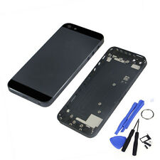New Metal Replace Black Battery Door Housing Back Cover Case For Iphone 5