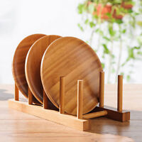 Wooden Wood Kitchen Dish Plate Drying Drainer Draining Board Rack Stand Holder