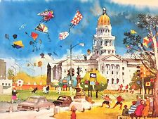 DONG KINGMAN The Capitol Building Denver Signed Lithograph 1979