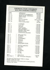 Louisiana State Tigers--1996-97 Basketball Pocket Schedule--Budweiser