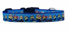 Blue Pink MINIONS medium large dog puppy collar  or & lead set 25mm wide