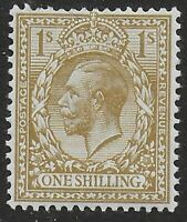 SG396. 1s.Bistre-Brown. Fresh Mounted Mint. Very Fine. Cat.£35. Ref:0/64