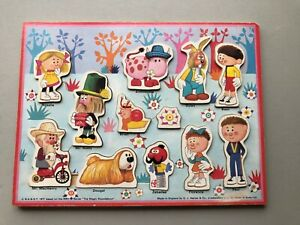 VINTAGE 1971 MAGIC ROUNDABOUT WOODEN PUZZLE G.J.HAYTER & CO/  J W SPEAR COMPLETE