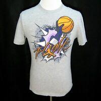AIR JORDAN Flight Mens Gray NIKE Short Sleeve Basketball T-Shirt (Size Small)