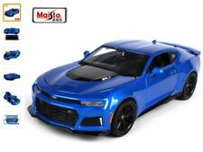 CHEVROLET CAMARO ZL1 2017 1:24 Scale Metal Diecast Toy Car Model Miniature Blue