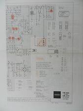 CB 200 / CB 210 Original Schaltplan für GRUNDIG Hifi Cassettendeck