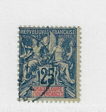 French Guadeloupe Scott #38 used light cancel  CV$ 100. L@@@@@K  (n189