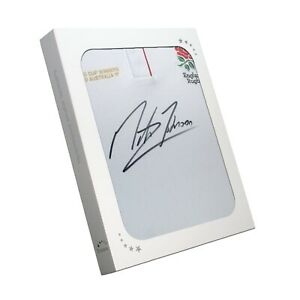 Martin Johnson Signed England Rugby Jersey In Gift Box | Memorabilia