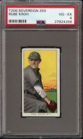 Rare 1909-11 T206 Rube Kroh Sovereign 350 Chicago PSA 4 VG - EX