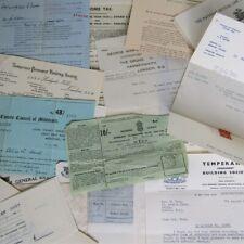 Job Lot Ephemera 1940's Mixed Media Bundle Vintage Paper Letters Tax Form .E1