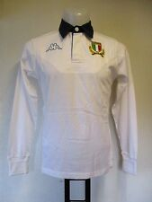 ITALY RUGBY WHITE L/S JERSEY BY KAPPA ADULTS SIZE SMALL BRAND NEW WITH TAGS