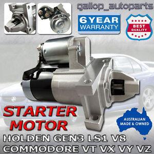 Monaro Starter Motor Suit Holden 5.7L V8 GEN3 (LS1) V2 & VZ 2001 to 2006