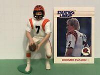 1988 Starting lineup Boomer Esiason figure Card Cincinnati Bengals Football toy