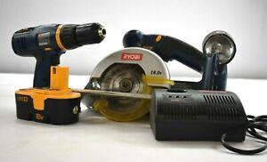 Ryobi 18V P501 Circular Saw P200 Drill P110 Charger P700 Spotlight Bundle