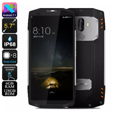 """SILVER BLACKVIEW BV9000 PRO 5.7"""" RUGGED SMARTPHONE-ANDROID7.1,13MP,6GB RAM,IP68"""