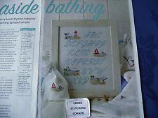 CHARMING BATHROOM ALPHABET SAMPLER WITH BEACH THEMED MOTIFS CROSS STITCH CHART