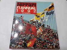 FERRARI F1 ANNUAL 1992 Automobilia Ediz. Italiano Inglese Francese Bruno Alfieri