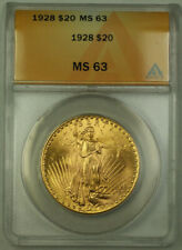1928 St. Gaudens Double Eagle $20 Gold Coin ANACS MS-63