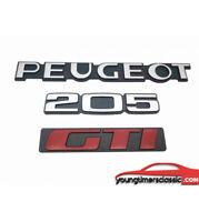 KIT 3 Monogrammes : PEUGEOT + 205 + GTI