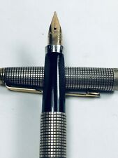 Parker Sterling Silver 14k Gold Nib Fountain Pen Never Been Used Made In USA.