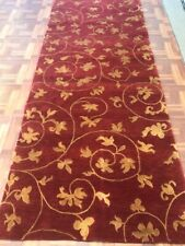 Tibbeatian wool & Bamboo hand knotted beautiful runner 3 X 10