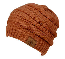 New Womens Knit Slouchy Beanie  Oversized Thick Cap Hat Unisex Slouch Color