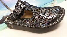 ALEGRIA Multi-Color Snake Print Leather Mary Janes Women's EUR 37/US 6.5 - 7 M
