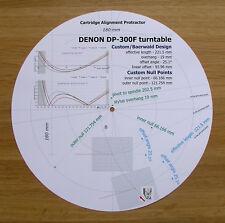 DENON DP-300F Design Personnalisé tonearm Cartouche Stylet Alignement Rapporteur