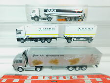 BO927-0,5 #3x Herpa H0 / 1:87 Camion MB / Mercedes : Dea + Schenker + Carl