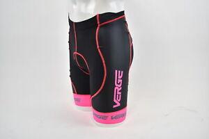 XS Women's Verge Triumph Strike Cycling Short Black/Pink CLOSEOUT