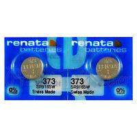 2 x Renata 373 Silver oxide batteries 1.55V SR916SW Watch SR68 0% Mercury
