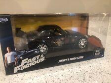 "JOHNNY'S HONDA S2000 BLACK ""FAST & FURIOUS"" MOVIE 1:24 DIECAST MODEL JADA 99541"