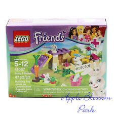 LEGO Sealed 41087 White Bunny Rabbit w/2 Babies Friends Easter Pet Animal Hutch