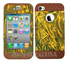 KoolKase Hybrid Silicone Cover Case for Apple iPhone 4 4S - Camo Mossy 11
