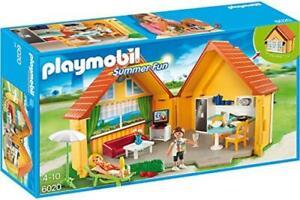 Playmobil® 6020 Summer Fun Aufklapp Ferienhaus Haus m. Geschirr Sofa Fernseher