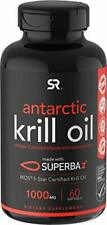 Antarctic Krill Oil (Double Strength) with Omega-3s EPA, 60 Count (Pack of 1)