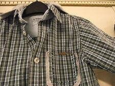 Timberland  - Short sleeved shirt - Blue check - Hooded - Age 3 (98)