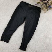 Head womens black athletic capri leggings SIZE SMALL weave side detail (F)