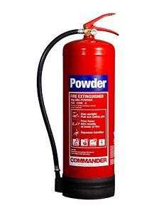 NEW 9KG ABC DRY POWDER FIRE EXTINGUISHER