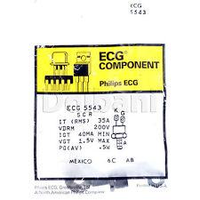 ECG5543 NTE5543 SCR Philips ECG Component Mexico 35A 200V 40MA MIN 1.5V MAX .5W