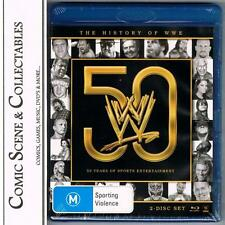 *WWE: THE HISTORY OF WWE: 50 YEARS*,   BLU-RAY DVD,  *NEW & SEALED*.  2 DISC SET