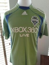 ADIDAS Seattle Sounders Green Soccer Jersey L  P10091